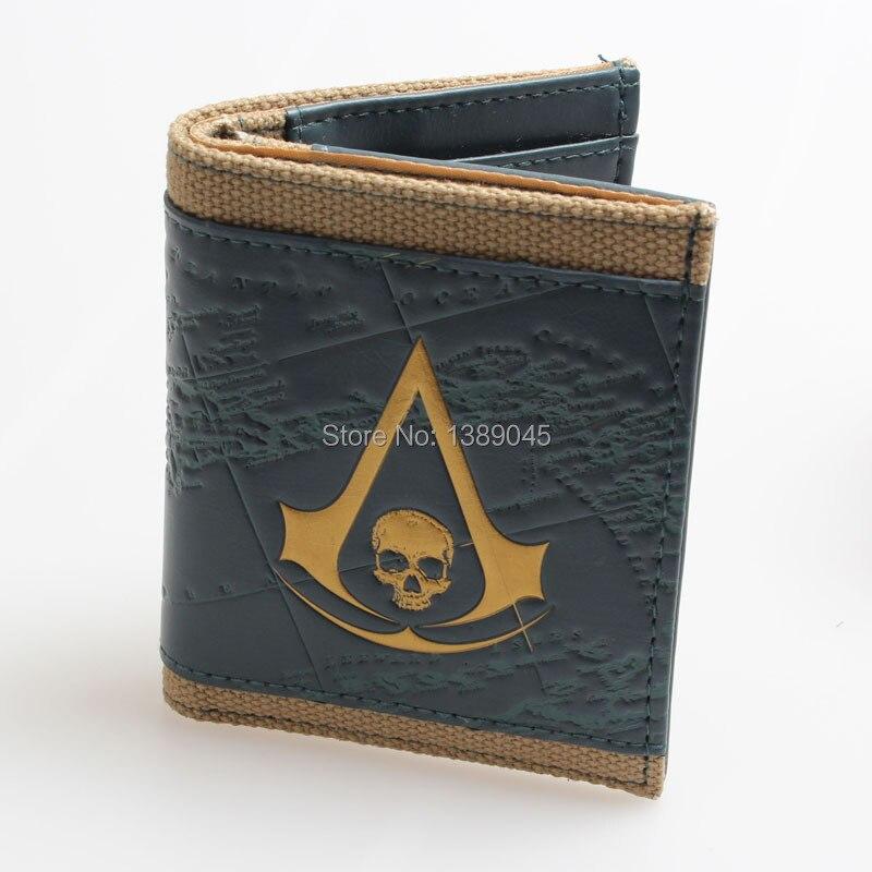 Assassins Creed 4 Black Flag  wallet DFT-1071<br><br>Aliexpress