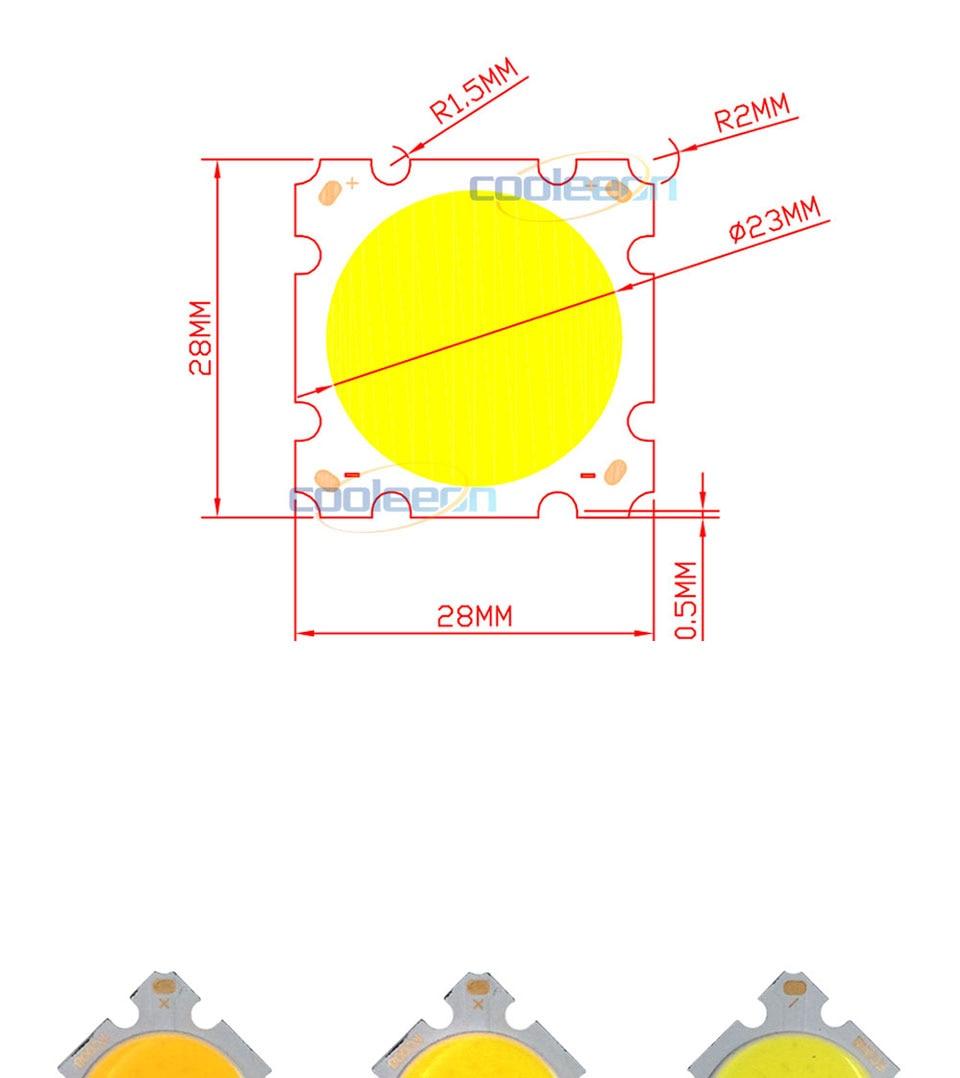 cob led 28mm square cob chip light bulb lamp 15W (1)