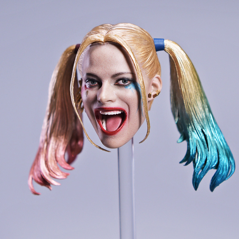 1/6 Clown Suicide Squad Harley Quinn Head Sculpt Laughing Version for 12 inches Phicen Female Action Figures Bodies Toys Gifts <br>