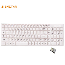 English letter Standard 2.4G Wireless Keyboard for MACBOOK,LAPTOP,TV BOX, Computer PC ,android tablet with USB dongle receiver(China)