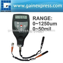 Handheld Digital Paint Coating Thickness Meter Gauge 0-1250um/0-50mil Range with Ferrous F & Non Ferrous NF Seperate Probes