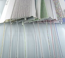 Diy SS6 A grade crystal glass 2mm rhinestones white plastic cup garment shoes phone wedding decorations applique chain 10yards(China)