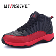 MIVNSKVE Summer Air Mesh High Top Basketball Shoes New 2018 Men Breathable Surface Damping Sneakers Combat Boots Basketball Shoe(China)