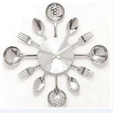2017 new special offer Modern wall clock knife kitchen clocks watch decorationQuartz Needle Europe metal(China)