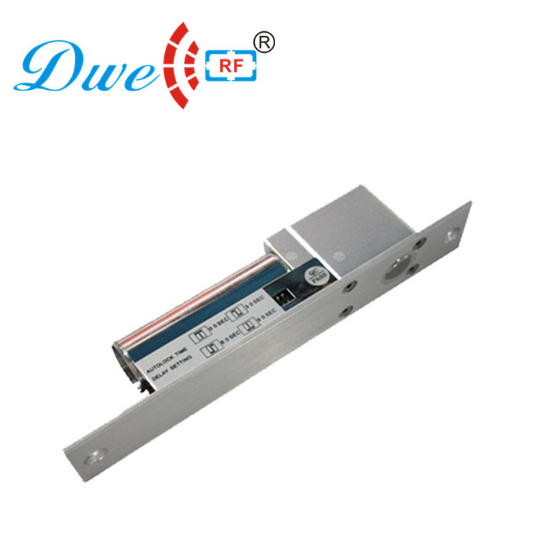 DWE CC RF Electric Bolt Lock 12V Power Fail Close Rfid Door Lock For Glass Door Access Control System DW-100+                   <br>