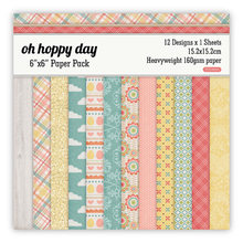 6 Inch Oh Hoppy Day Scrapbooking Pads Paper Origami Art Background Paper Home Deco Card Making DIY Scrapbook Paper Craft(China)