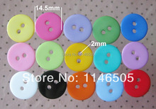 100pcs Mixed Plastic bulk Resin Button 14.5mm RoundButton For Craft Garment Accessory Kids Accessories Scrapbooking Products