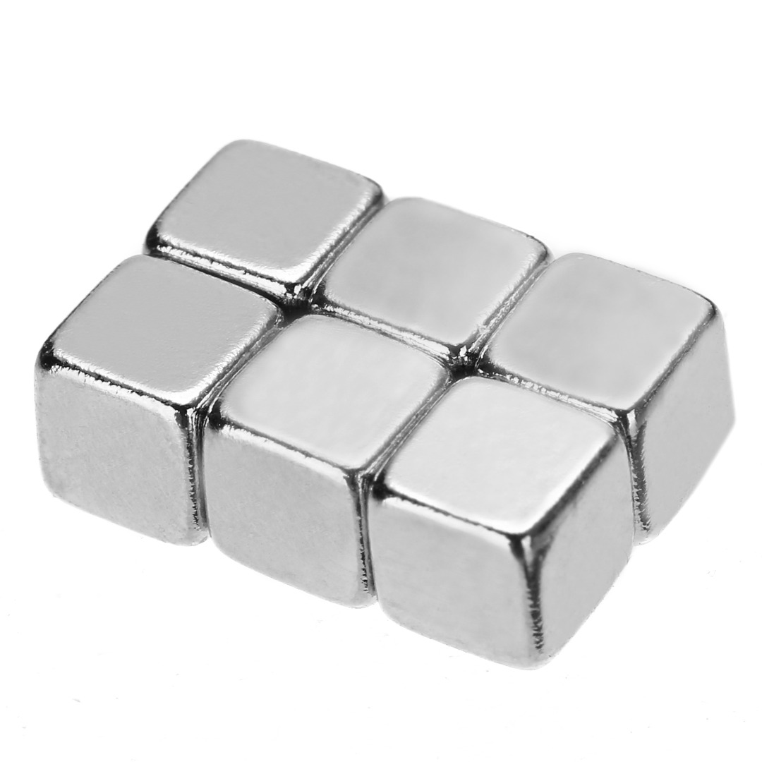 Mini Small Rare Earth Magnets N45 Nickel Plated Neodymium Magnets Super Strong Cuboid Cube Magnetic 5X5X5mm 5/10/20/50pcs