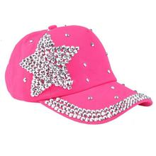 Summer kids hats Baseball Cap Children Cotton Five-pointed star Cap Shaped boy girl Snapback Hat Gorras Diamond Caps girl Hats