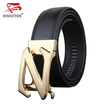 Buy DINISITON High Male New Brand Cow genuine Leather Belts Men Z letters special letter Automatic Buckle Strap for $9.73 in AliExpress store