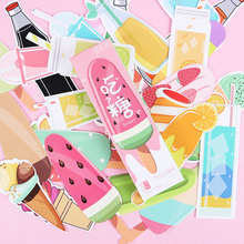 30PCS Korea Kawaii Soft Drinks Ice Cream Paper Bookmark Notes Marker Indexes Memo Bookmarks School Office Stationery