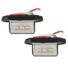 2pcs/lot New Practical 12/24V 3 LED Number Licence Plate Light Rear Tail Lamp Truck Trailer Lorry