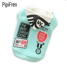 PipiFren Small Dogs Clothes Hoodies Cat Coat Chihuahua Yorkshire French Bulldog For A Dog T Shirts Pets Clothing vetement chien(China)
