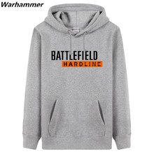 Battle field Hardline Mens funny DIY Printing thicker Hoodies & Sweatshirts Fashion Style S XXXL Black Red Grey pullover jackets(China)