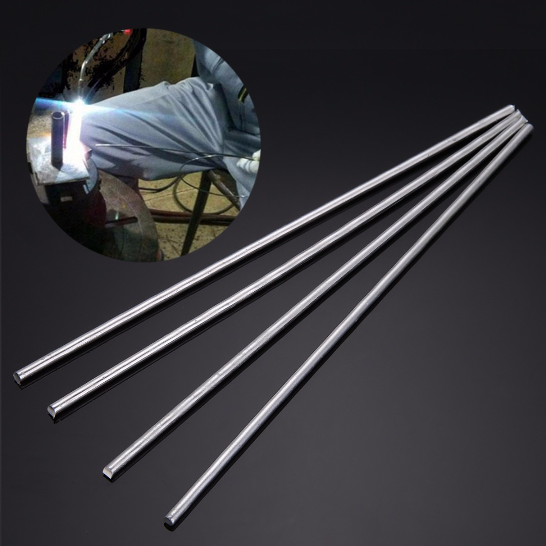 4pcs/set 4mmx230mm Silver Aluminum Low Temperature Tig Metal Welding Soldering Brazing Rods