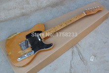 . Free Shipping !! Top Quality F Telecaster Nice Maple Neck Electric Guitar Black Pick Guard Hot Guitar In Stock(China)