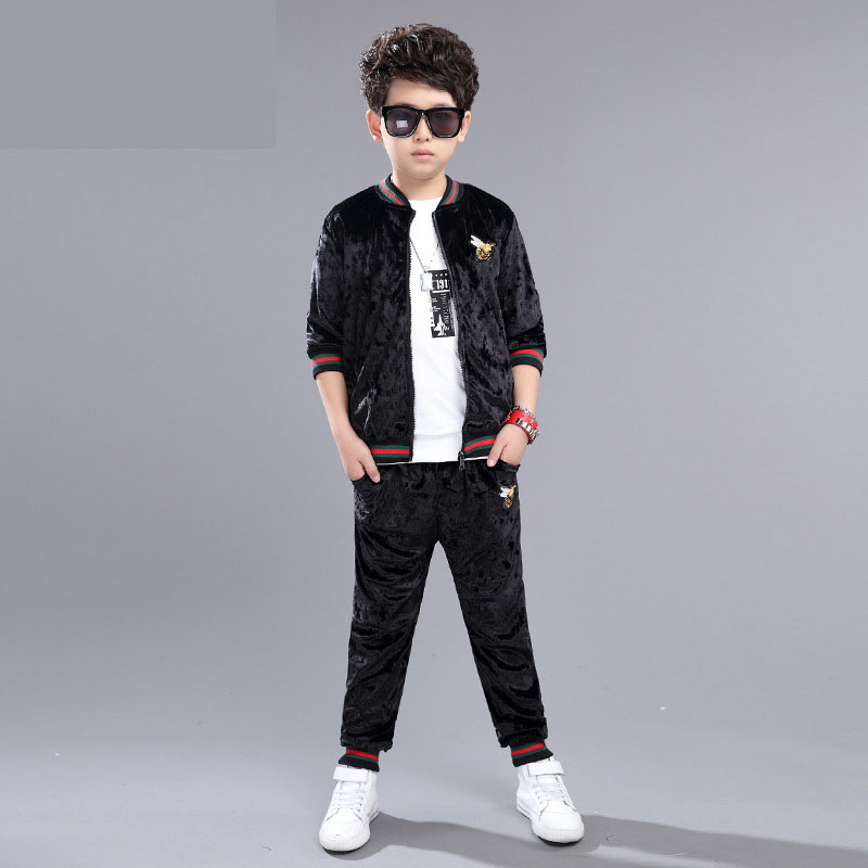 2 pcs sets litle teenage baby boys clothing set 2017 new spring autumn sport suit for boy outfits black gray jackets pants suits<br><br>Aliexpress