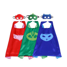 Children Cape Christmas Halloween Party Masked Pajamas Cloak Mask Set Cloak New Double PJ MASKS Set Robe and Mask