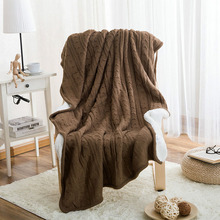 Quality Assurance 100% Cotton Knitted Blanket Spring Sheep Velvet Blankets Knitted Wool Warmth Blanket Sofa/Bed Cover Blanket