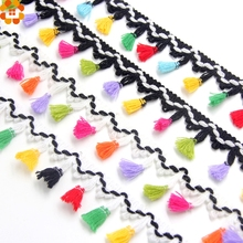 5Yard 43MM DIY Polyester Tassel Fringe Ribbon Lace Trim Ribbons For Sewing Cloth Crafts Accessories&Home Party Decoration
