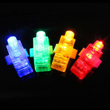 1pc LED Finger Light Glowing Dazzle Colour Laser Emitting Lamps Wedding Celebration Festival Kid Birthday Party Decor