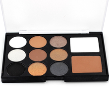 Eye shadow Palette Chocolate Palette Matte &Shimmer Eyeshadow 1pcs 11 color Shdow Eyeshadow Makeup E11 01(China)