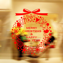 Keythemelife Glass Sticker merry chrismas removable home Decor happy Decoration room Decals Art wallpaper fast receive DA