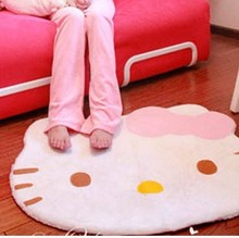 free shiping size:80X70cm hello kitty carpet with bowknot pink cute so soft carpet The bedroom mat mat hall carpet pad(China)