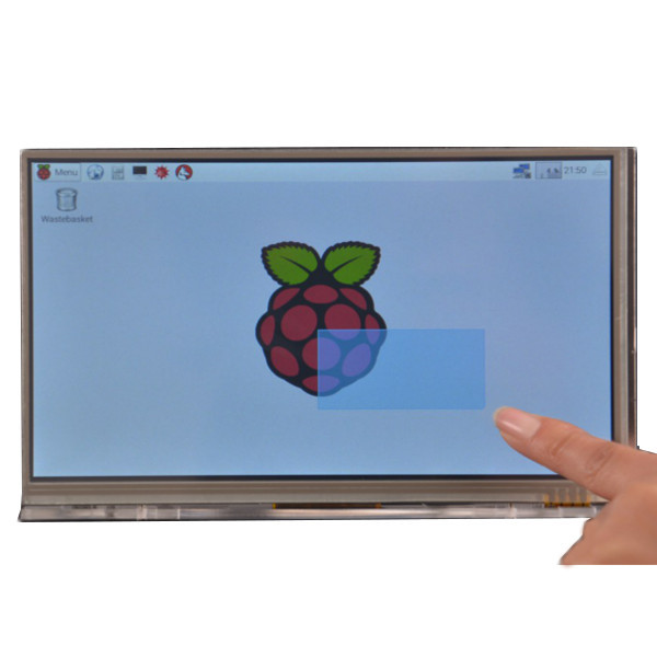 1PC New Raspberry Pi 7 touchscreen kit 7-inch LCD Screen + Touch/LCD Driver board + USB/ Rainbow/ Cable line + Long key board(China)
