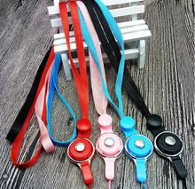 100pcs/lot soft mobile Neck strap DIY Detachable lanyard gym sports Lanyard rope string For keychain cellphone camera ID card