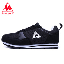 Le Coq Sportif 2017 Men's Running Shoes Rubber Cushion Breathable Sneakers Light Outdoor Men  Sports Shoes Black Color Free Ship