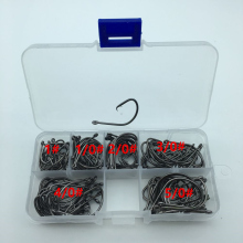 120pcs/box 1#-5/0# 6 size mix 7381 fishing Hooks Octopus Sport Cirle bait sea hook with box(China)