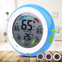 Mini LCD Digital Thermometer Hygrometer Weather Station Indoor Tester Electronic Temperature Humidity Meter Detector Time Clock(China)