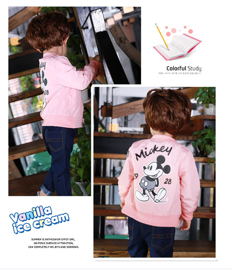 19 Mickey Denim Jacket For Boys Fashion Coats Children Clothing Autumn Baby Girls Clothes Outerwear Cartoon Jean Jackets Coat 20