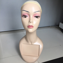 Free Shipping! Realistic Female Mannequin Head For Wigs Hat Display Stands Manikin Head Women Maniquins Makeup Wig Stand Holder
