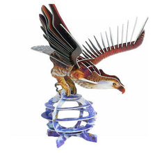 New arrival kids toys cool eagle 3d puzzle toys kids simulation paper 3d puzzle toys kids educational toys for children