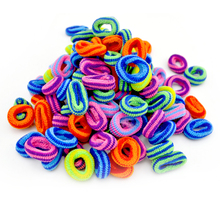Wholesale 100pcs Child Baby Kids Girl Ponytail Holders Hair Accessories Colorful Random Rubber Band Tie Gum(China)