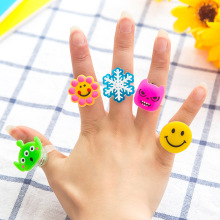 5 pcs Creative Children's Gift Cartoon LED toys light stick Fluorescent Ring Flash Finger Light Random delivery