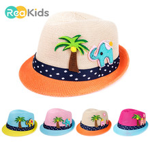 bf7a57892ee REAKIDS Baby Girl Boys Jazz Cap Cartoon Sun Cap Baby Boys Hat Beach Bucket  Hats Headwear Caps Infant Summer Outdoor Sun Hat