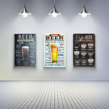 Wand Decoratie Vintage BEER STYLES AROUND THE WORLD Vintage Tin Sign Retro Metal Plate Painting Wall Decoration Neon Beer Sign(China)