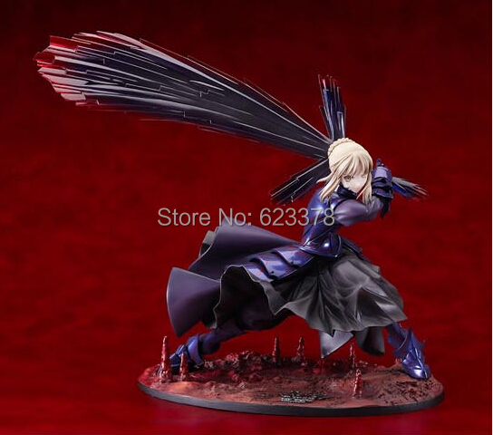 Japanese Anime Fate/stay night Black Saber PVC Action Figure Collection Model Toy 7 18CM<br><br>Aliexpress