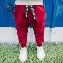 YAUAMDB kids long pants 2017 winter autumn 6-10Y knitted boy trousers children pocket casual clothes solid clothing y38(China)