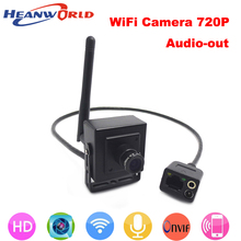 New 720P mini IP camera wireless p2p cam Onvif HD wifi cameras cctv security system with audio for home door video(China)