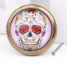 New Hot Sale Vintage Skull Closet Door Dresser Drawer Cabinet Cupboard Pull Knob DIY Handle Home Decoration Free Shipping