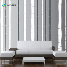 2 Colors/Set 12 Trees Large Birch Tree Wall Decal Forest Nursery Baby Furniture Wall Sticker Home Decals Decor Vinyl Mural A-55