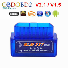2018 Super Mini Bluetooth V2.1 ELM327/V1.5 OBD2 Car Ferramenta de Diagnóstico ELM 327 Bluetooth Para Android/Symbian Para protocolo OBDII(China)