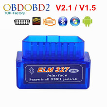 2018 Super Mini ELM327 Bluetooth V2.1/V1.5 OBD2 Voiture Outil De Diagnostic ELM 327 Bluetooth Pour Android/Symbian Pour OBDII Protocole(China)