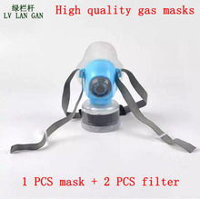 high quality respirator gas mask Brand Practical type protective mask Painting pesticide industrial safety chemical gas mask(China)