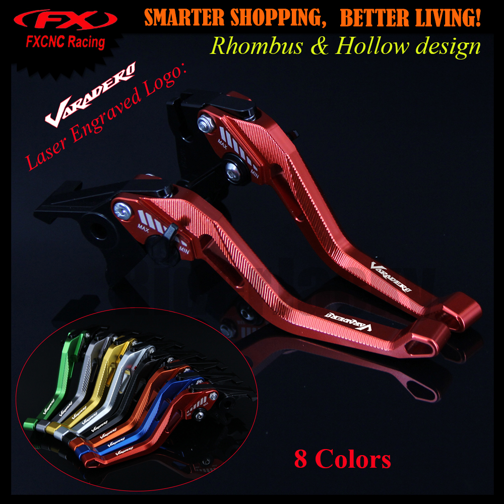 3D Rhombus Hollow Design patent For Honda XL1000 Varadero/ABS 1999-2013 2010 2011 2012 CNC Red Motorcycle Brake Clutch Levers <br>