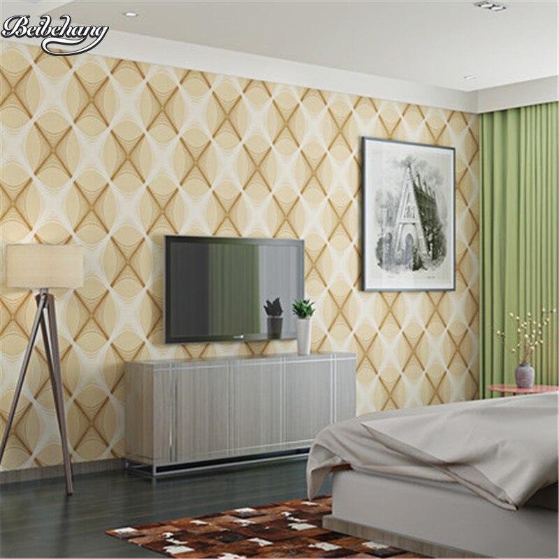 beibehang geometric diamond non - woven wallpaper 3D stereoscopic living room bedroom background Full Shop wedding wallpaper<br>